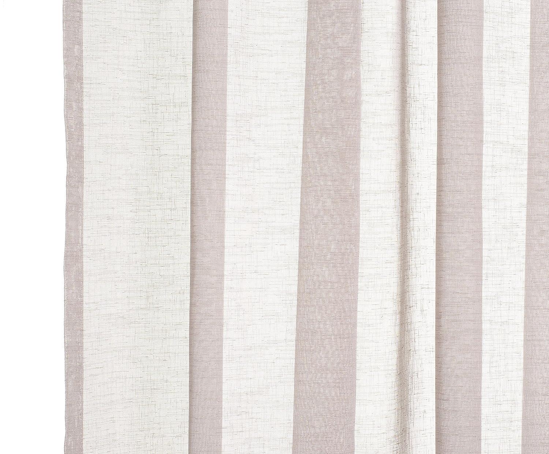 140x245 cm Halbtransparent Schlaufenschal Schlaufenvorhang Fenstervorhang Taupe Polyester