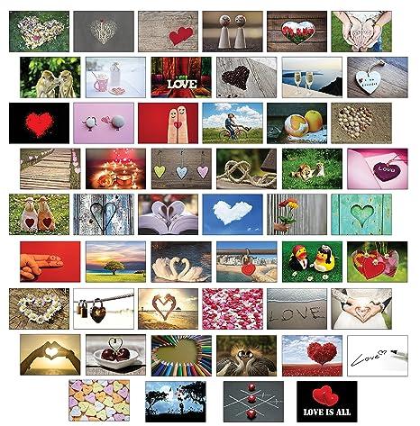 Postkarten Hochzeit / Liebespostkarten / Hochzeitsspiel 52 Wochen : jede Woche eine Postkarte - hochwertiges LEINENPAPIER für