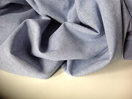 Azul claro algodón batista tela vaquera camiseta de manga corta gamuza de blusa tela summer e instrucciones para ...