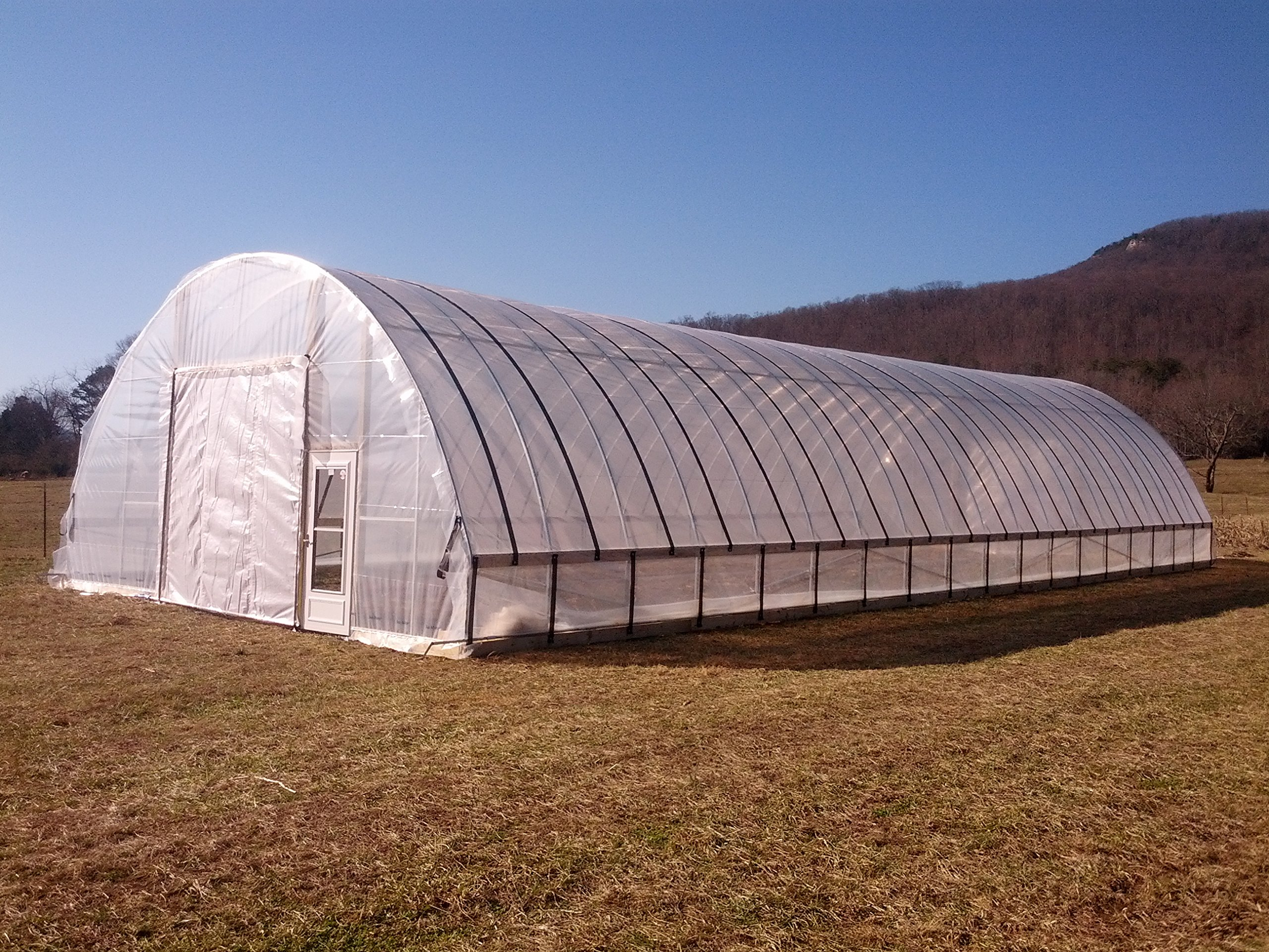 Greenhouse Clear Plastic Film Polyethylene Covering Gt4 Year 6 Mil 12ft. X 55ft. By Grower's Solution