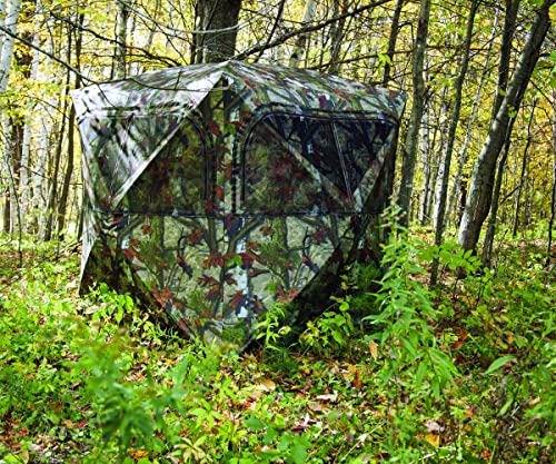 Barronett Blinds GR351BT Grounder 350 Pop Up Portable Blind, Woodland Camo