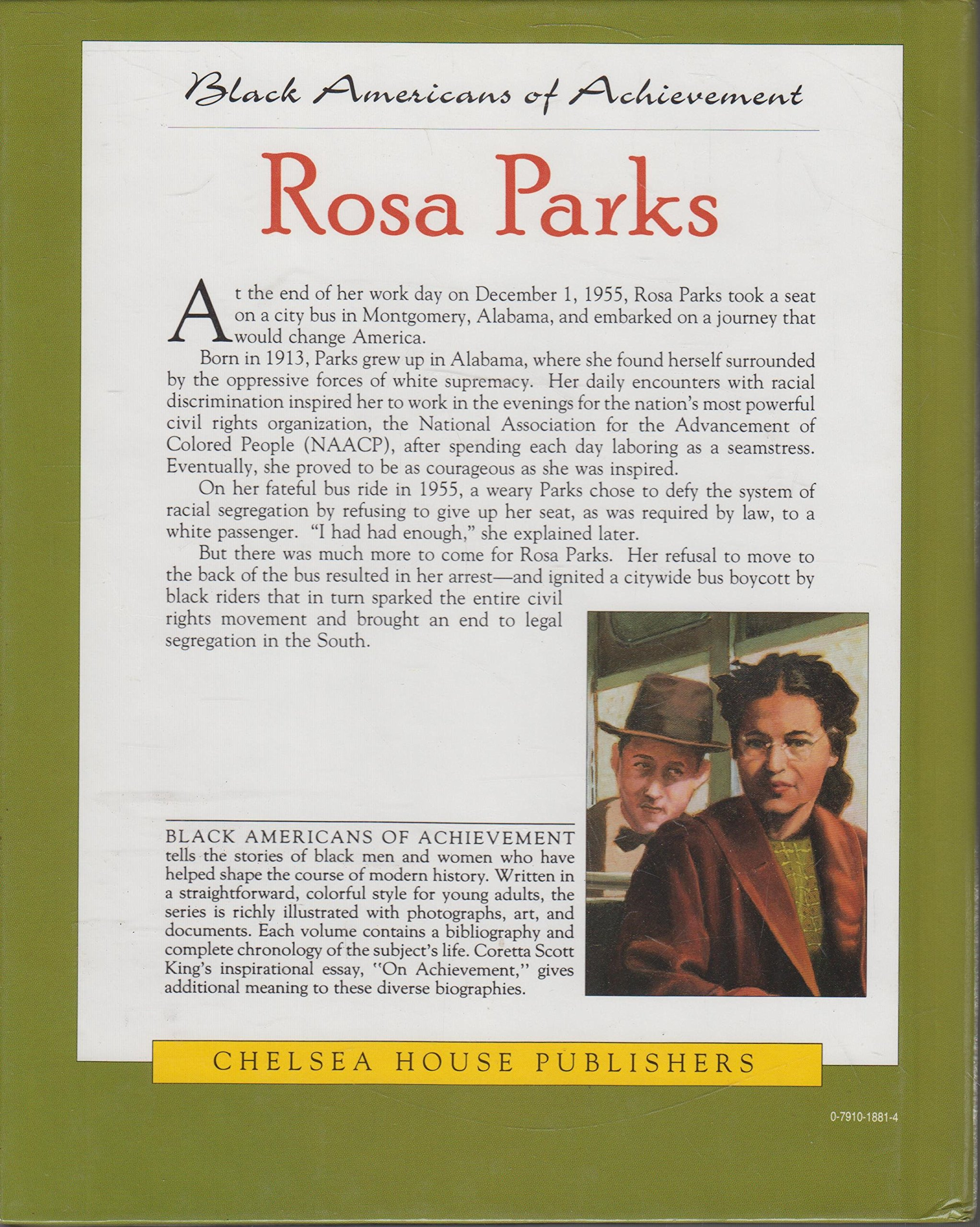 rosa parks black americans of achievement mary hull rosa parks black americans of achievement mary hull 9780791018811 com books
