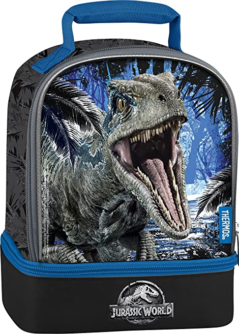 Amazon.com  Thermos Licensed Dual Lunch Kit, Jurassic World 2 ... a05bd6b10e