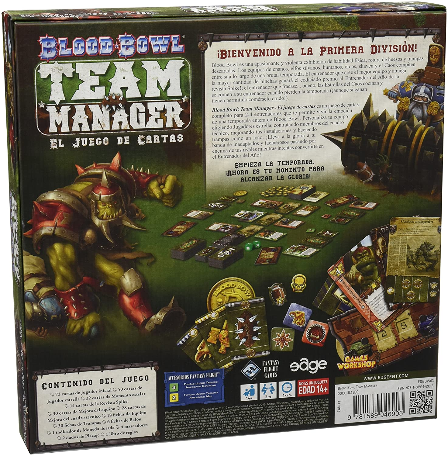 Fantasy Flight Games Blood Bowl: Team Manager - The Card Game