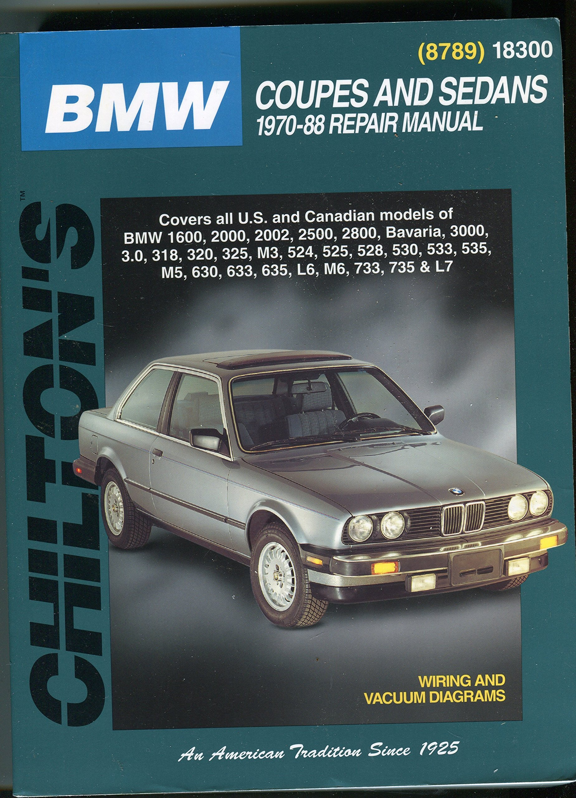 Chilton 18300 Repair Manual (only 6 Remaining): BMW: 0035675087896:  Amazon.com: Books