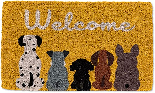 Abbott Collection 35-FWD an 1906 Doormat-18X30 L, Welcome Dogs