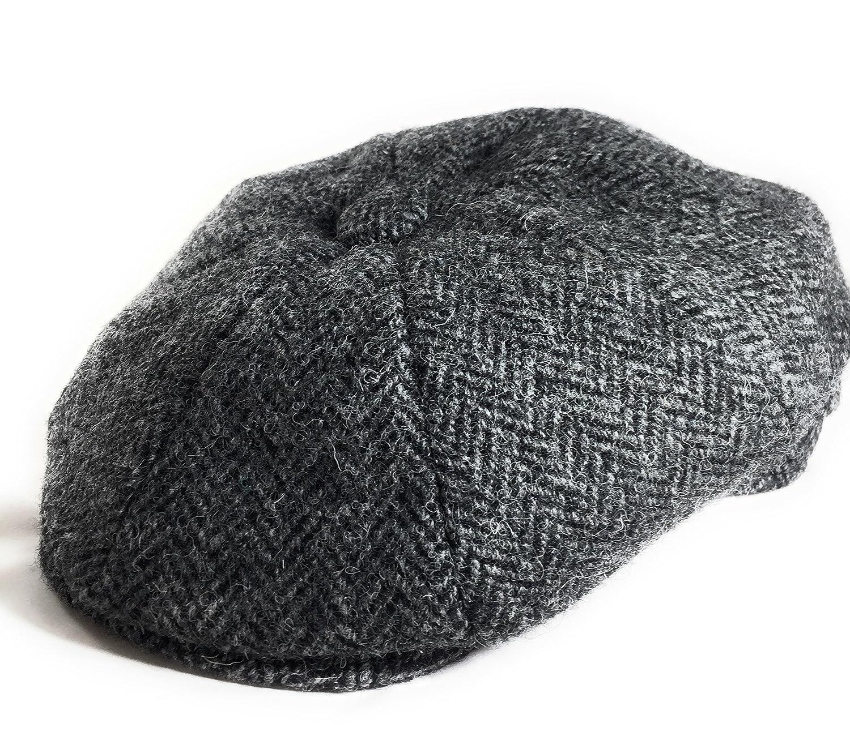 Harris Tweed Men's Modern 8-Piece Newsboy/Baker Boy Pre-Shaped Cap