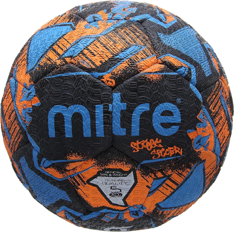 Mitre Unisex Street Soccer – Balón de fútbol, Color Negro/Naranja ...