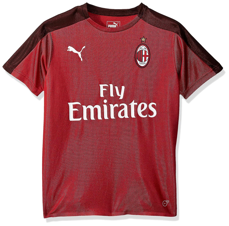 0c267459ff352f Amazon.com : PUMA Men's Standard Ac Milan Stadium Jersey Ss Kids with  Sponsor : Sports & Outdoors