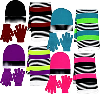 Girl/'s Cold Weather 3-Piece Hat//Scarf//Gloves Set 4 Colors Details about  /Berkshire Fashion
