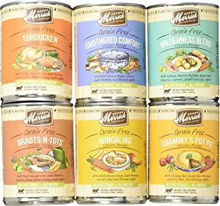 product image for Merrick Grain Free Wet Dog Food Variety Pack, 6 Flavors, 13.2-Ounces Each (6 Total Cans)