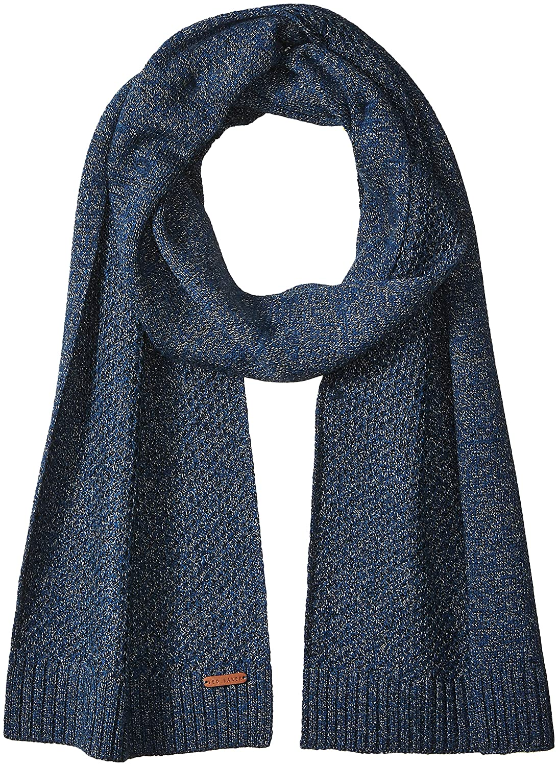Ted Baker Men's Kapok Twisted Cable Knitted Scarf Charcoal One Size XA7M-XV16-KAPOK