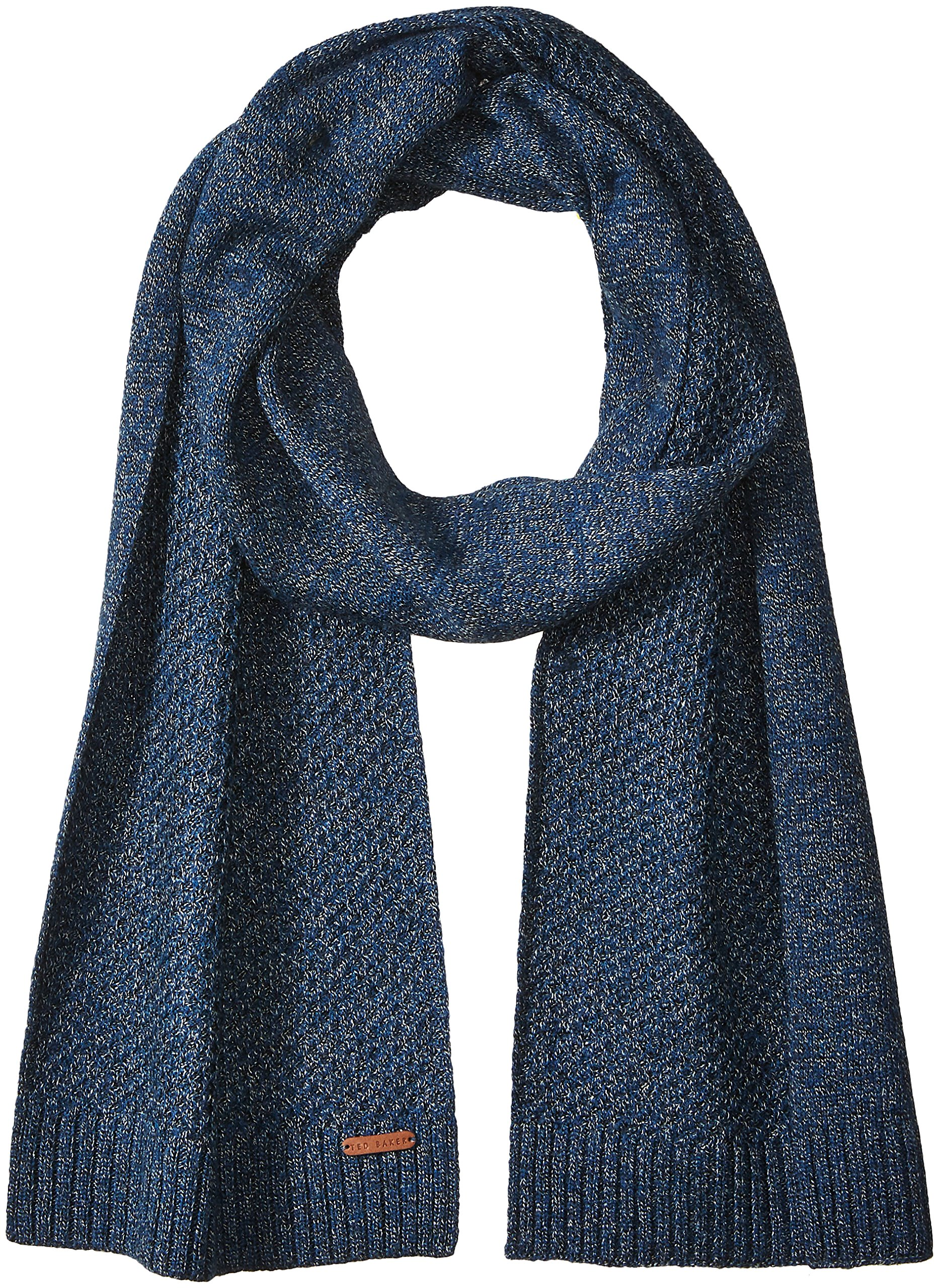 Ted Baker Men's Kapok Twisted Cable Knitted Scarf, Teal/Blue, One Size