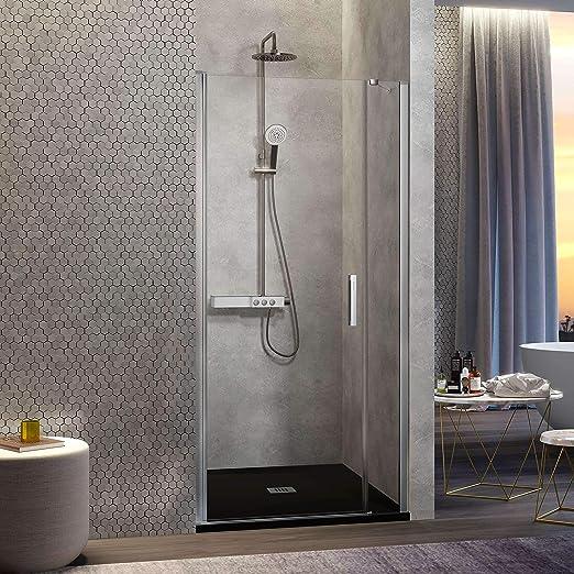 Frente de ducha NARDI, fijo + puerta abatible: Amazon.es ...