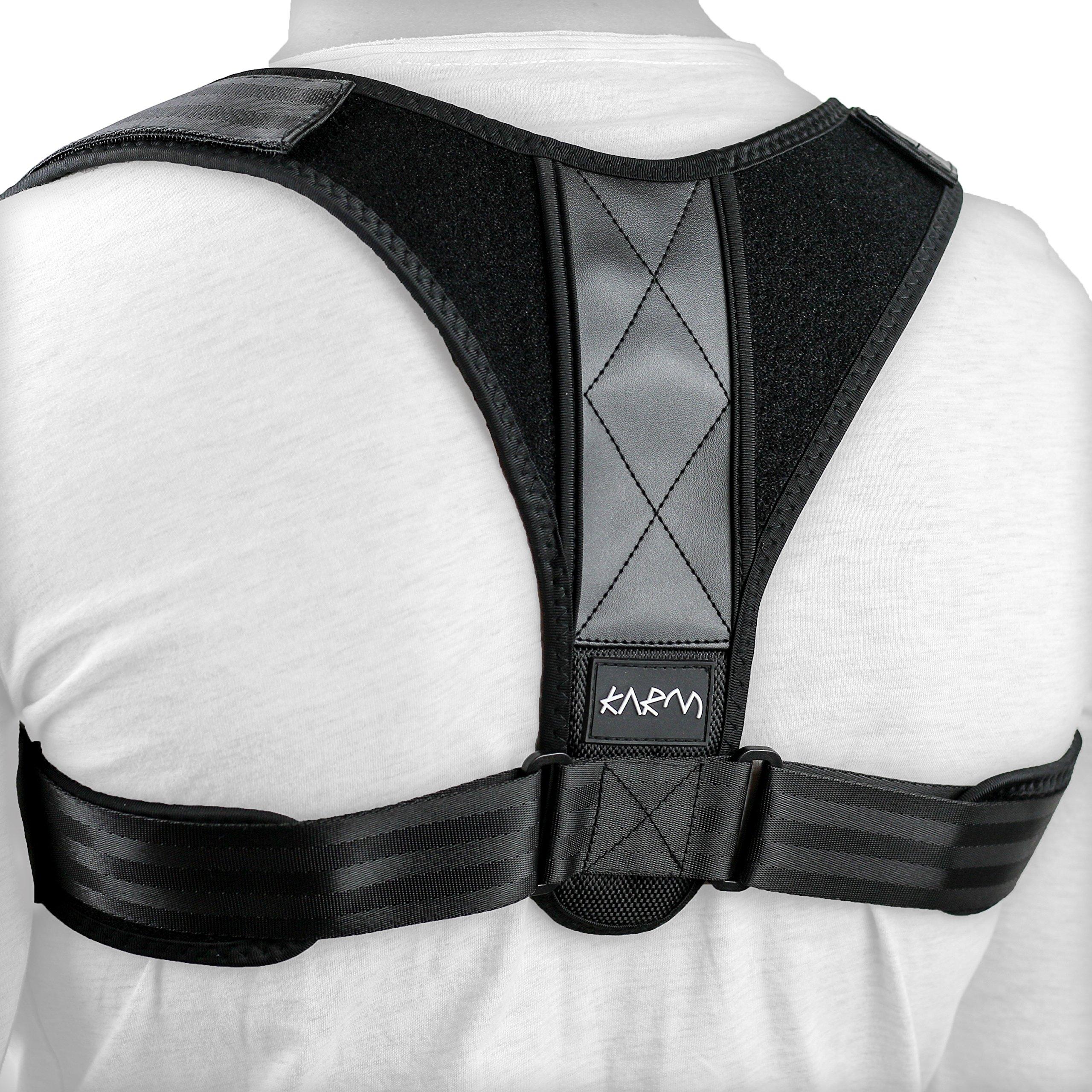 Adjustable Clavicle Posture Corrector Support Strap Brace for Collarbone, Upper Back Straightener, Scapula, Shoulder Blade, Hunchback, Figure 8, Men, Women, Kids & Plus Size (L/XL)