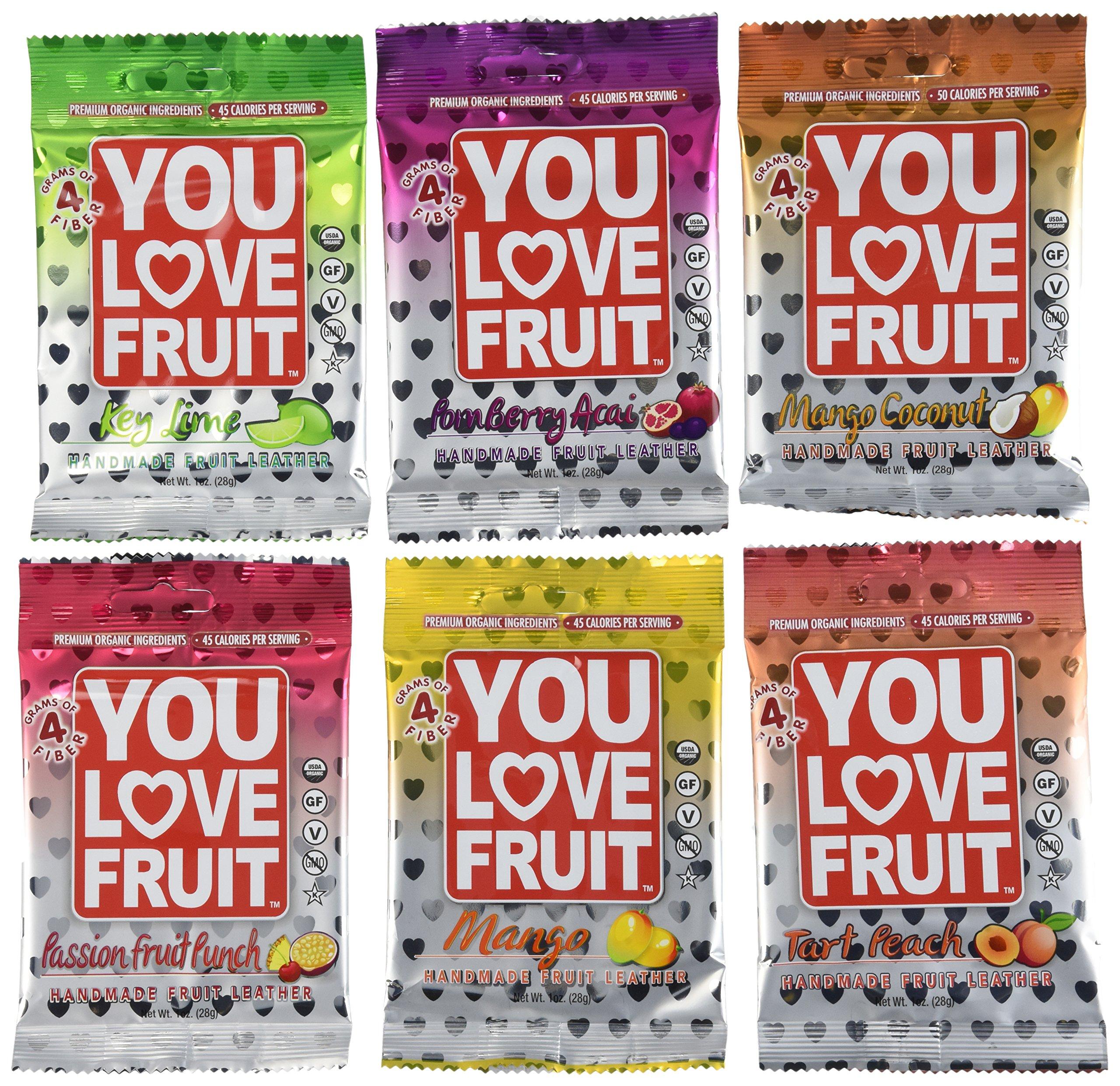 You Love Fruit Premium Organic Fruit Snacks Variety Pack of 12