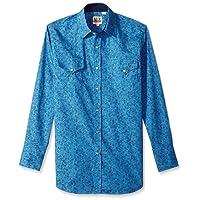 Ely & Walker Mens 15A27020 Long Sleeve Premium Cotton Paisley Shirt Long Sleeve Button Down Shirt