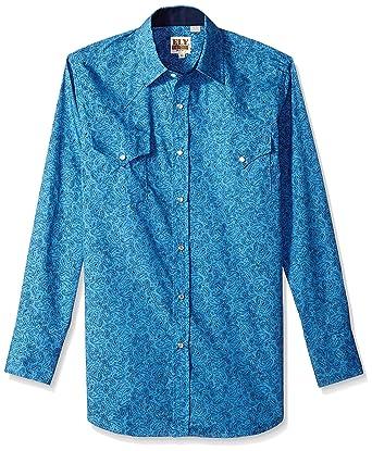 ac26aa2e14f92 Ely   Walker Men s Long Sleeve Premium Cotton Paisley Shirt