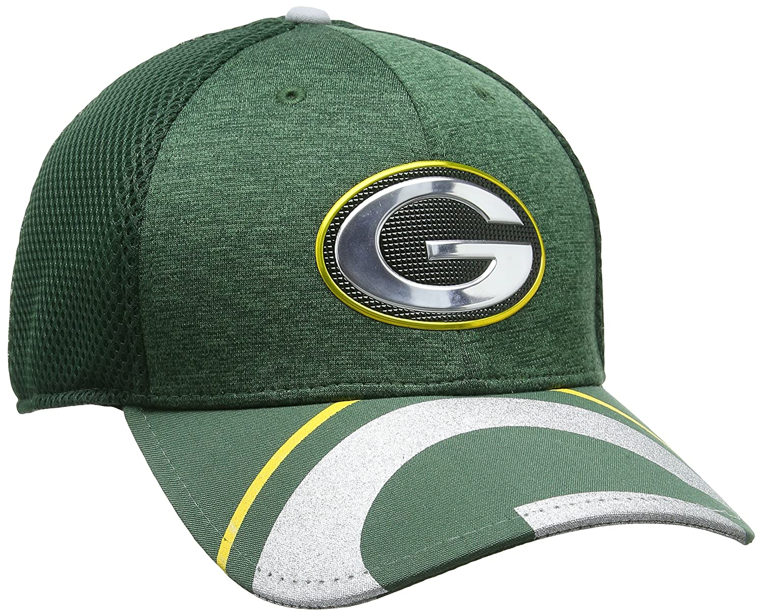 107b0ff56 New Era Men s NFL 17 Official on Stage 39thirty Green Bay Packers Baseball  Cap  Amazon.co.uk  Sports   Outdoors
