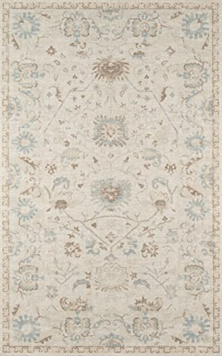 Momeni Anatolia Wool and Nylon Area Rug 5'3″ X 7'6″ Beige