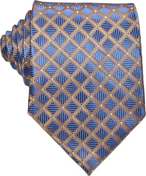 New Classic Striped Orange Blue JACQUARD WOVEN 100/% Silk Men/'s Tie Necktie