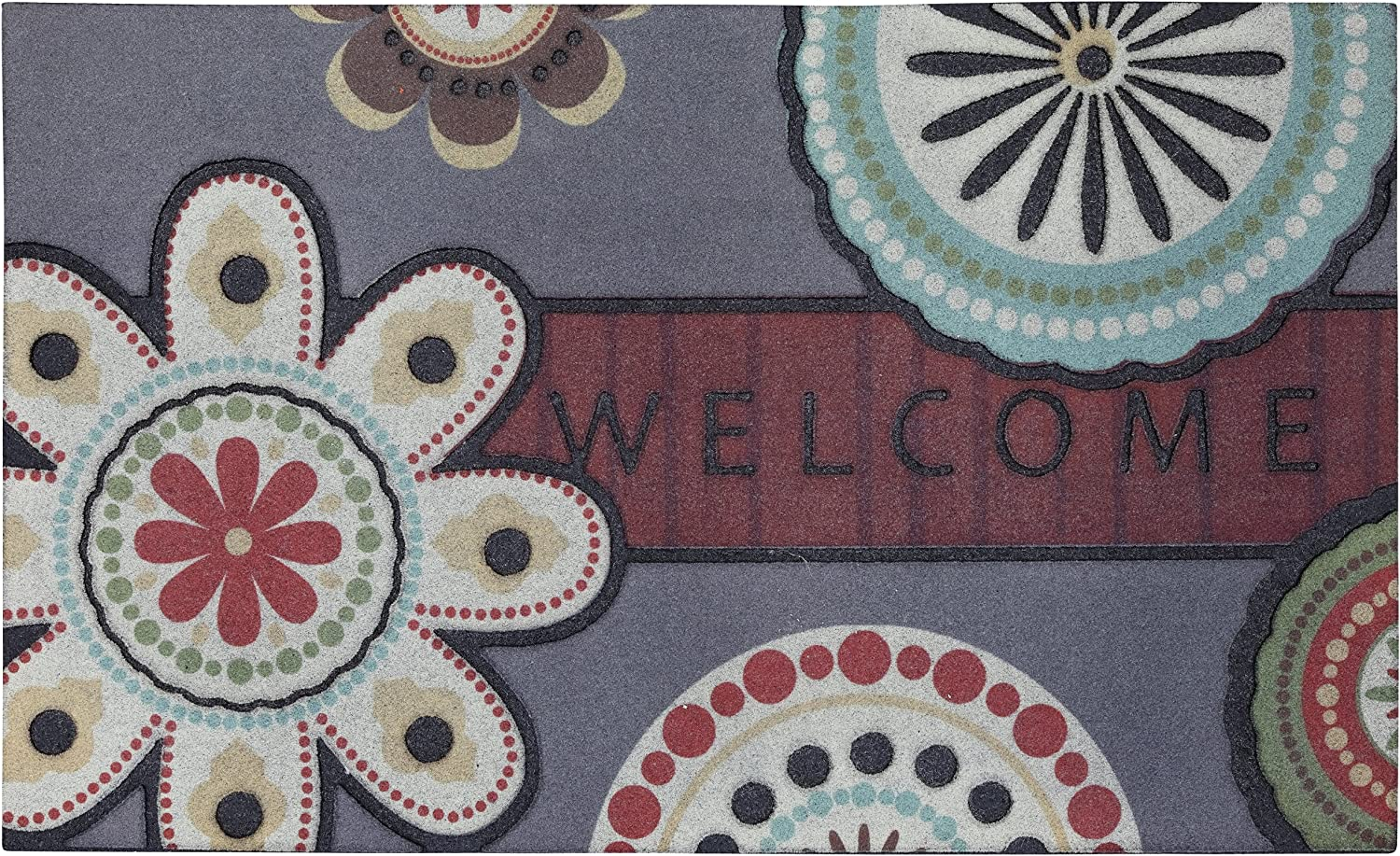 Mohawk Home Circle Flowers Doormat, 18 by 30-Inch