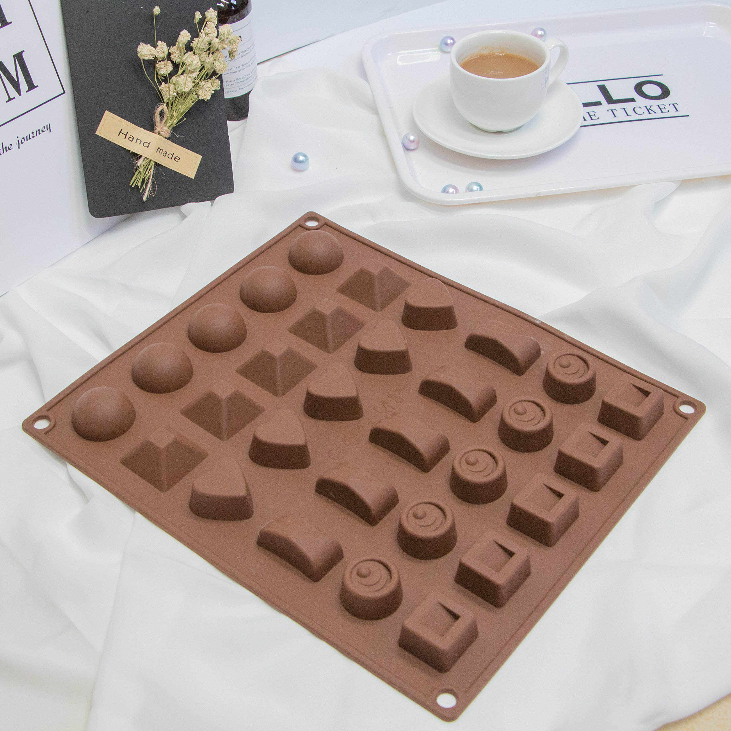 2 Pieces Silicone Baking Mold, Chocolate Candy Molds Robot for Making Cake Muffin Cupcake Gumdrop Jelly DIY by HR-International (Image #3)