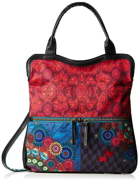 Desigual BOLS_Cordoba LAKEY - Bolso de Hombro de Material sintético Mujer, Color Azul, Talla 26x28x5 cm (B x H x T): Amazon.es: Zapatos y complementos