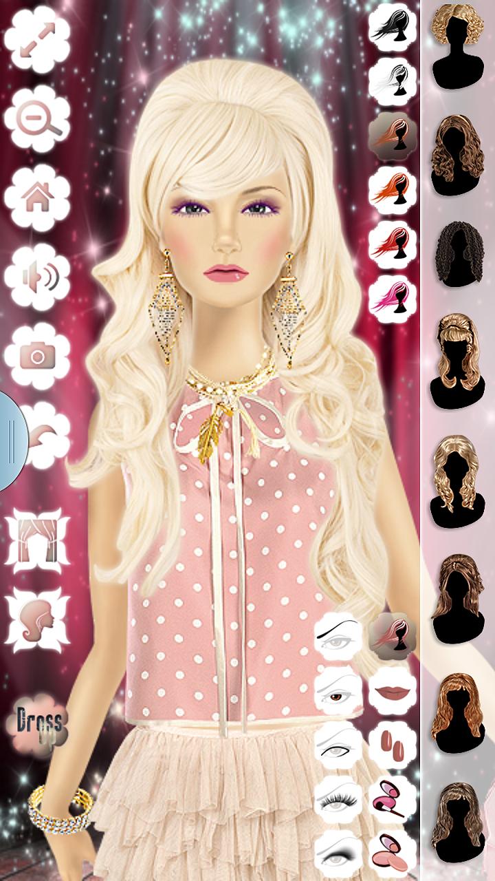 Barbie Doll Maquiagem, Penteado & Vestir-se Moda Top Model