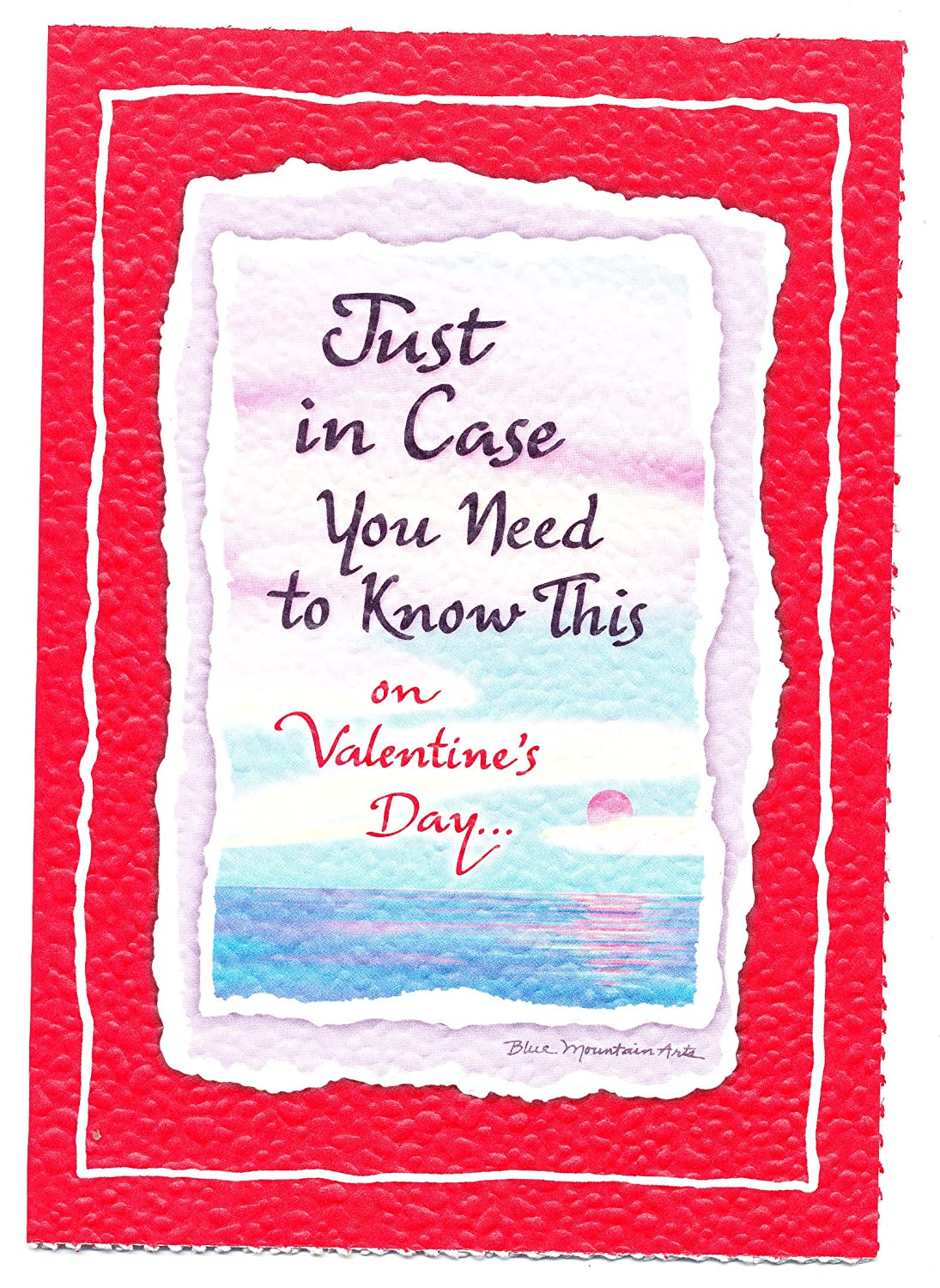 Amazon Blue Mountain Arts Greeting Card Valentines Day Just In