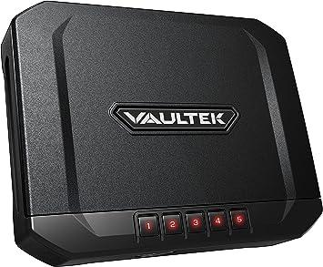VAULTEK Essential Series Quick Access Portable Safe Auto Open Lid Quick-release Security Cable Rechargeable Lithium-ion Battery (VE10 (Sub-Compact Safe))