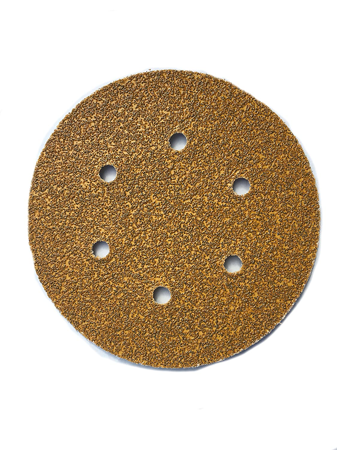 Sungold Abrasives 365060 6 By 6 Hole 80 Grit Heavyweight Paper Premium F-Weight Paper Hook And Loop Sanding Discs 25-Pack
