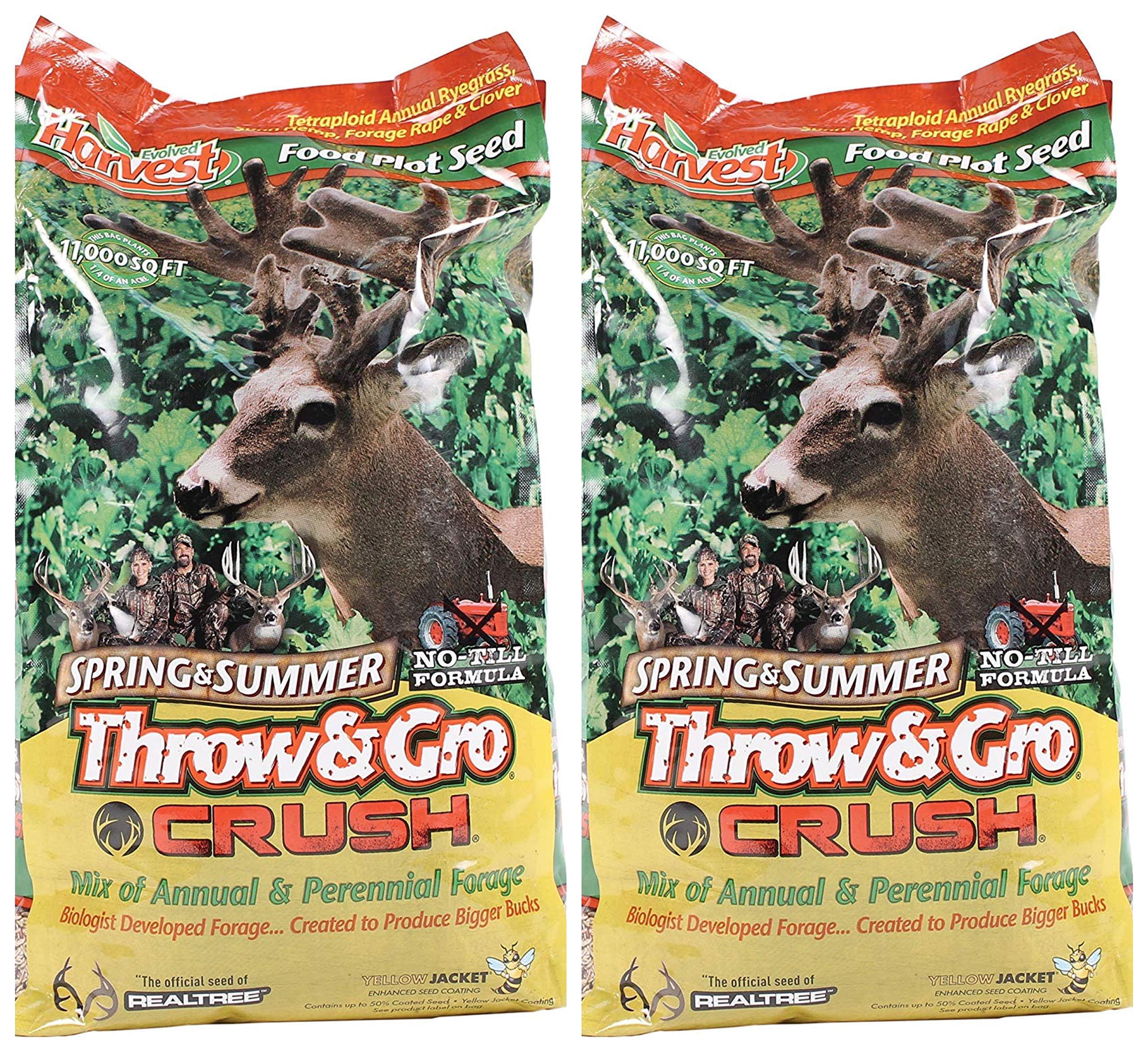 Evolved Harvest Throw & GRO Spring Crush Deer Food Plot Seed (Тwо Расk)