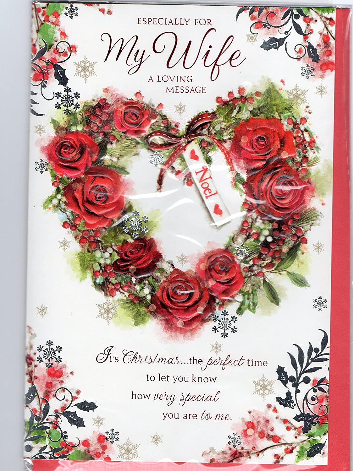Christmas card wife 13z beautiful quality traditional christmas christmas card wife 13z beautiful quality traditional christmas xmas card amazon office products kristyandbryce Choice Image