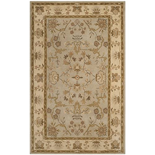 Safavieh Antiquities Collection AT62A Handmade Traditional Light Grey and Beige Area Rug 3 x 5