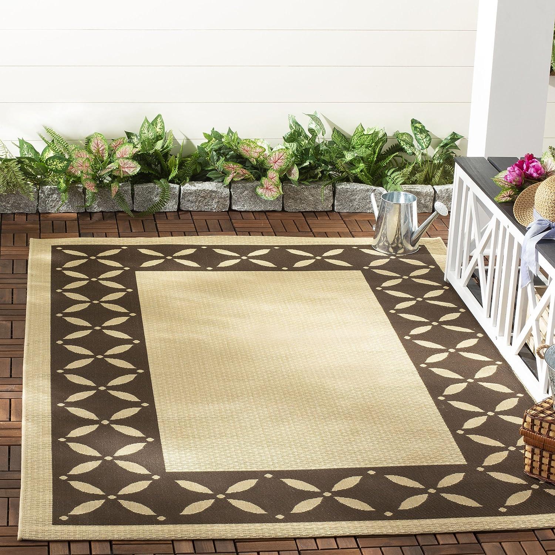 Safavieh Martha Stewart Collection MSR4257-50 Mallorca Border Crème and Red Area Rug (4 x 57