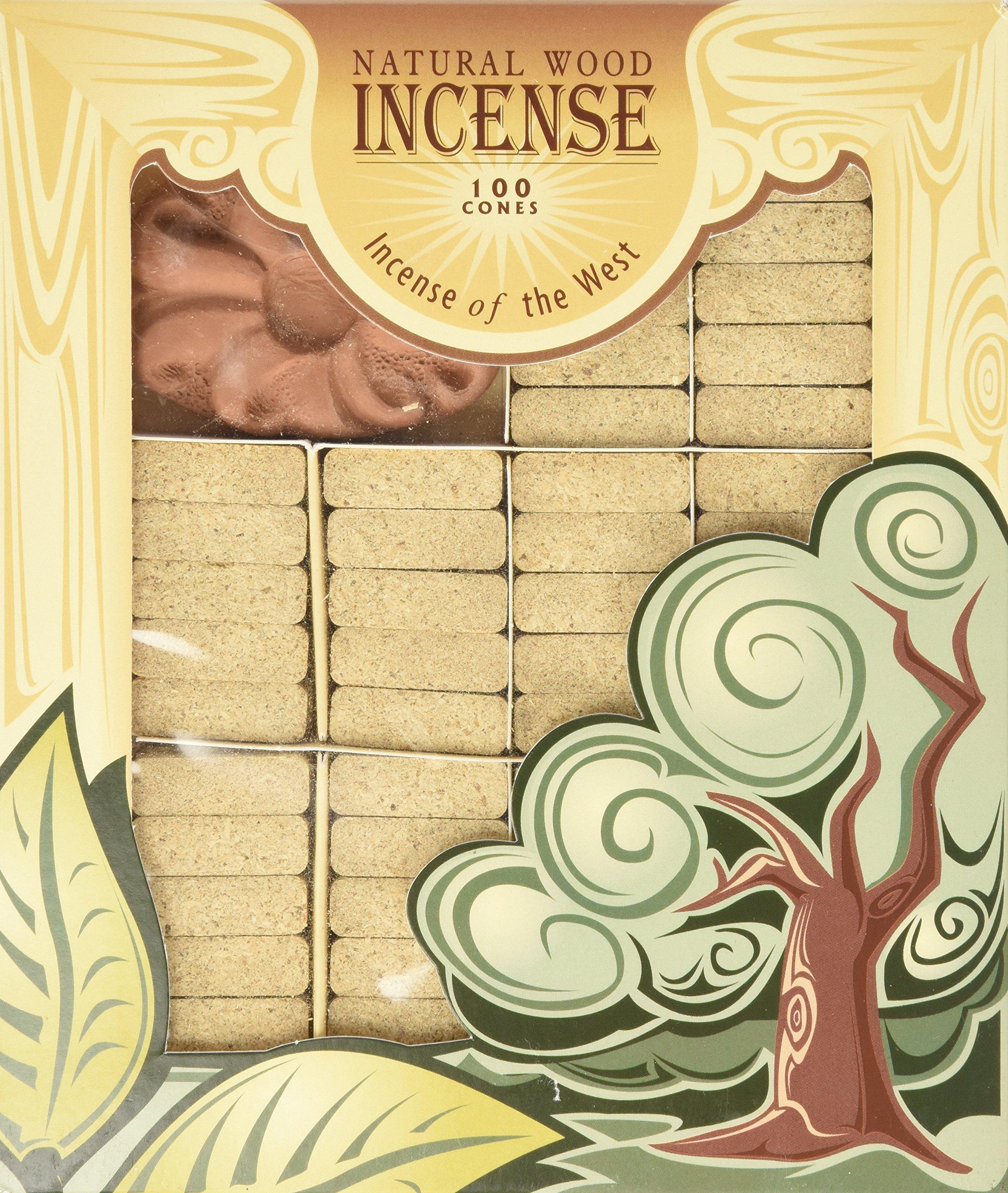Pinon Wood Incense - 100 Bricks Plus Burner - Incienso De Santa Fe by Incienso de Santa Fe