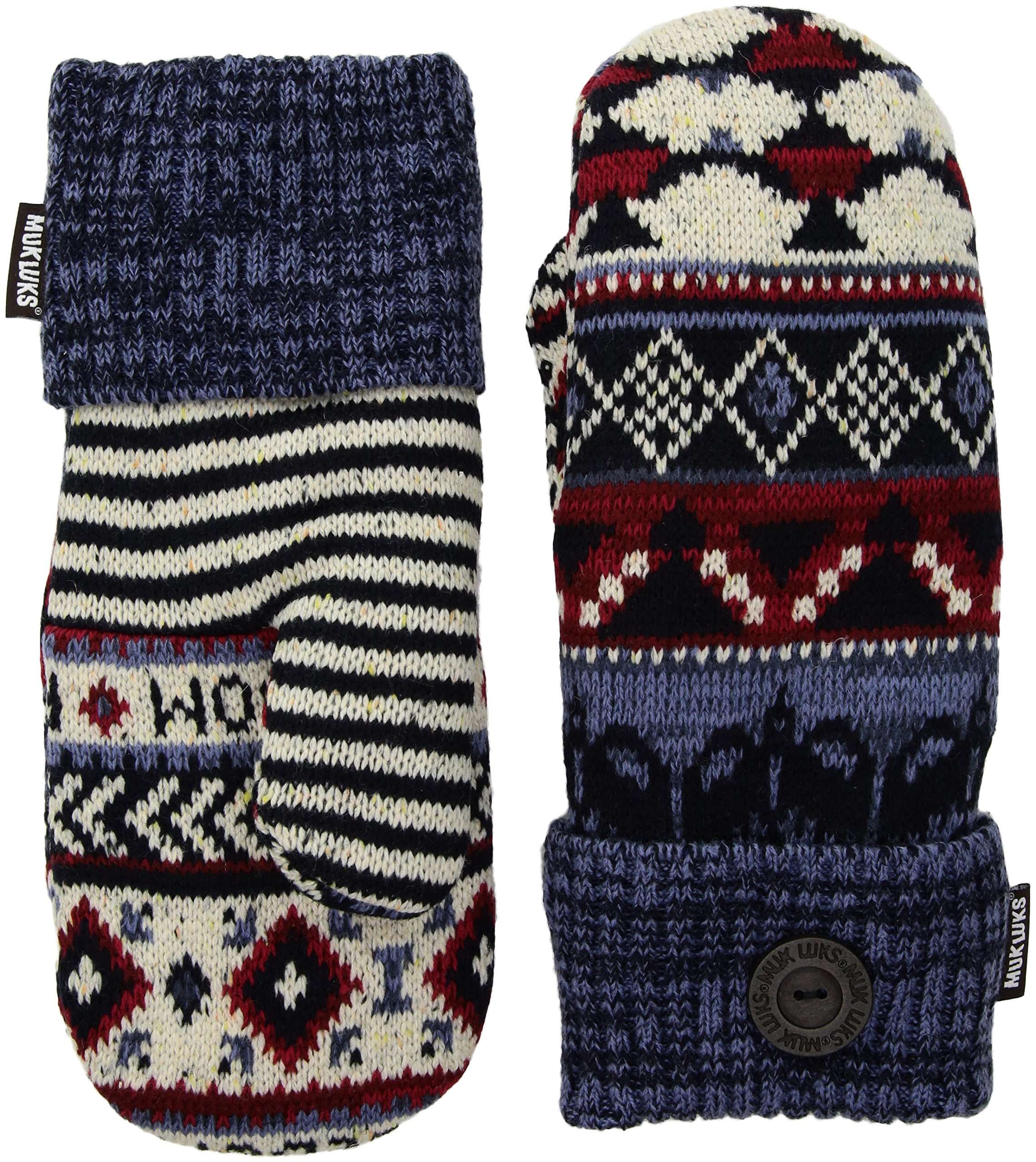 Muk Luks Women's Potholder Mittens, multi, One Size