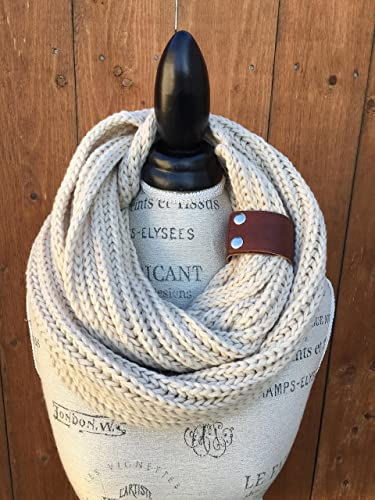 Amazon Ivory Braid Pattern Infinity Knit Scarf By Uptown Girl