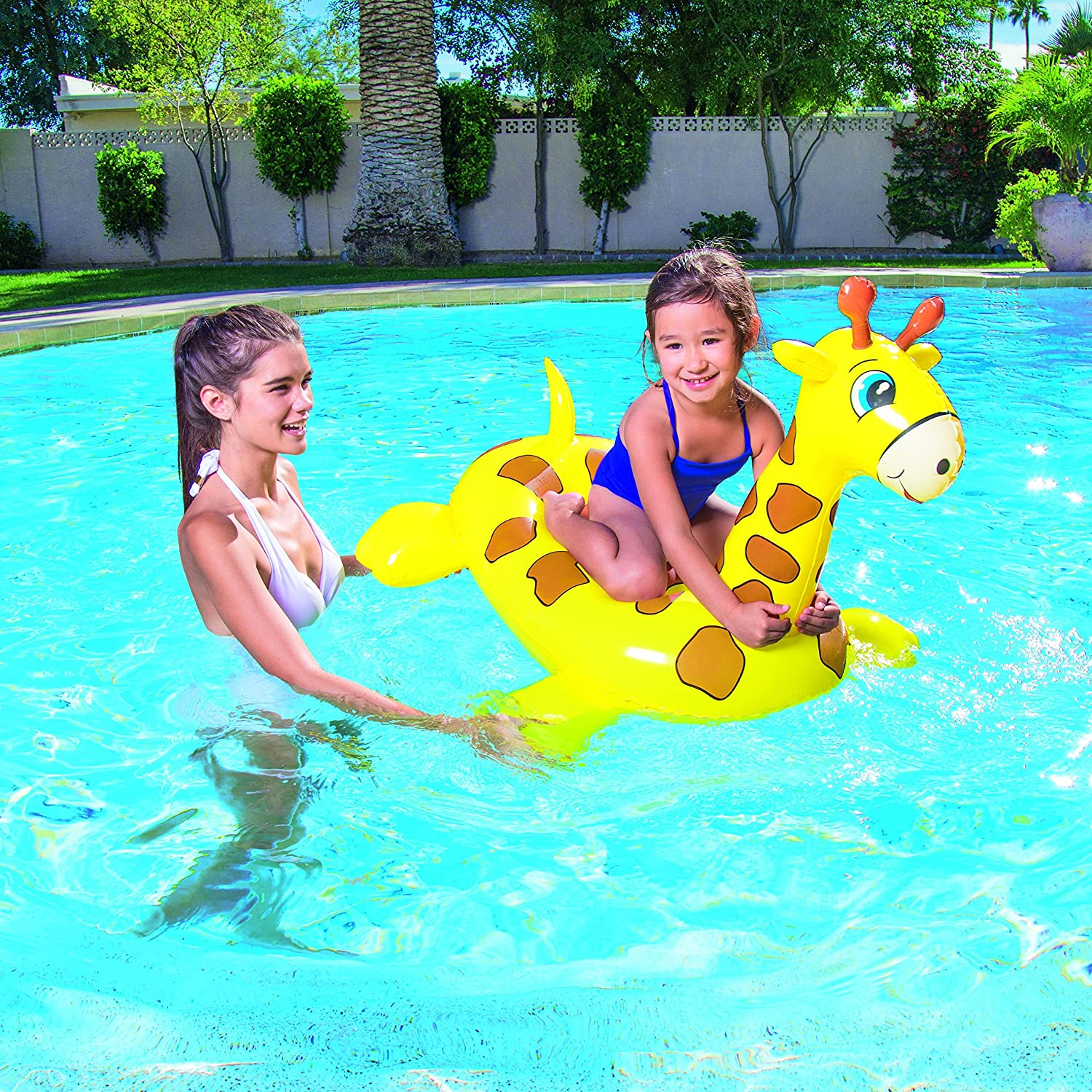 Bestway Inflatable Giraffe Float Pool Fun Toy Amazon Toys