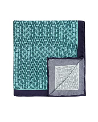 T.M.Lewin Men/'s Pocket Square Mint Geometric Print Silk 33X33cm 100/% Silk