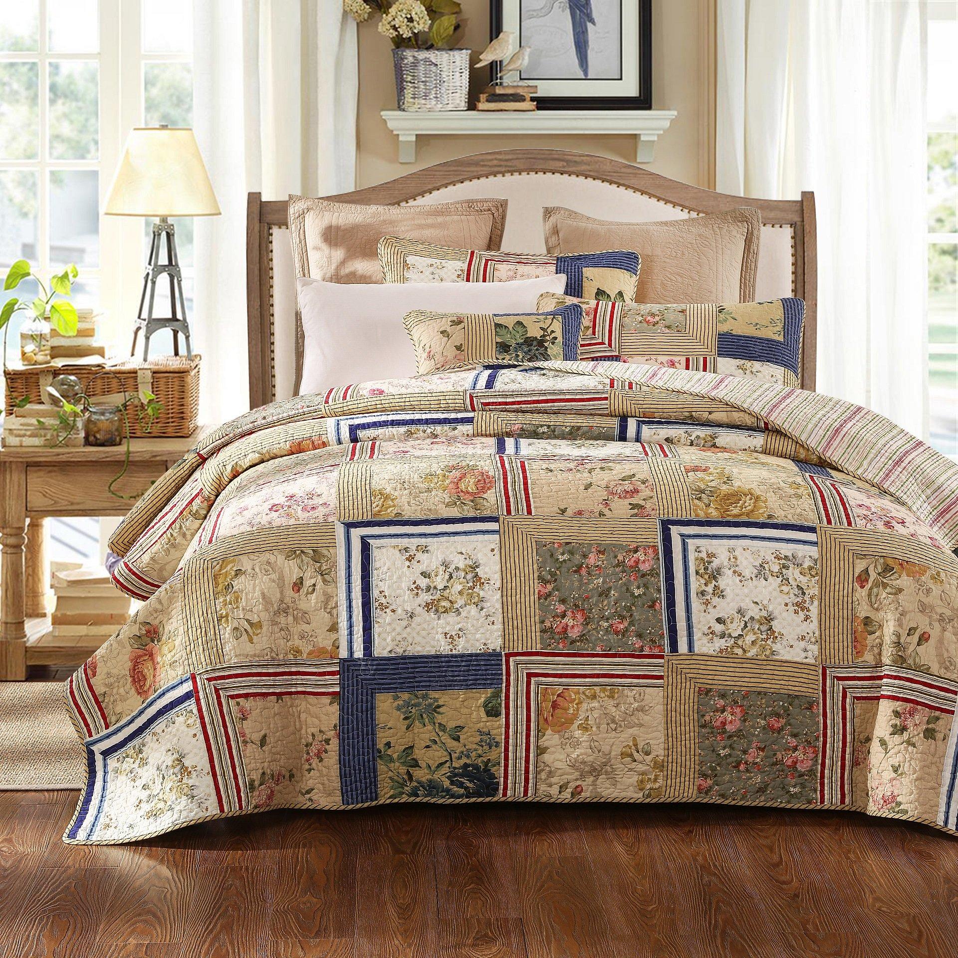 Tache 5 PC Exotic Cotton Japanese Emperor\'s Garden Bedspread Quilt ...