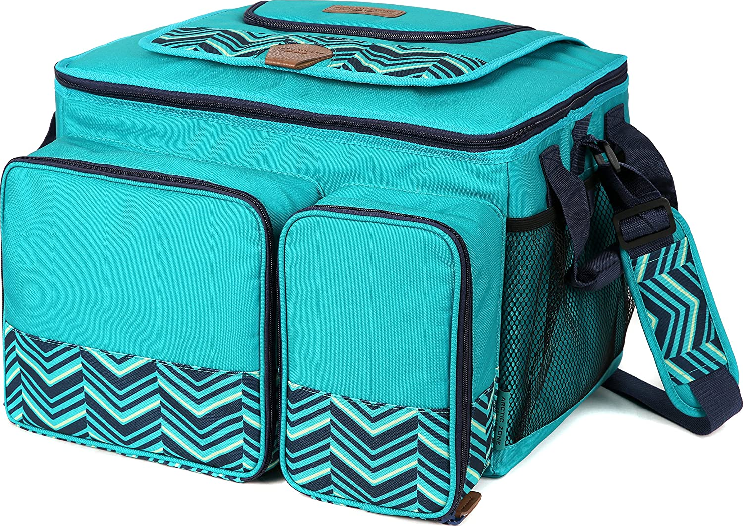 Arctic Zone Hot/Cold Insulated Collapsible Picnic Cooler, Teal