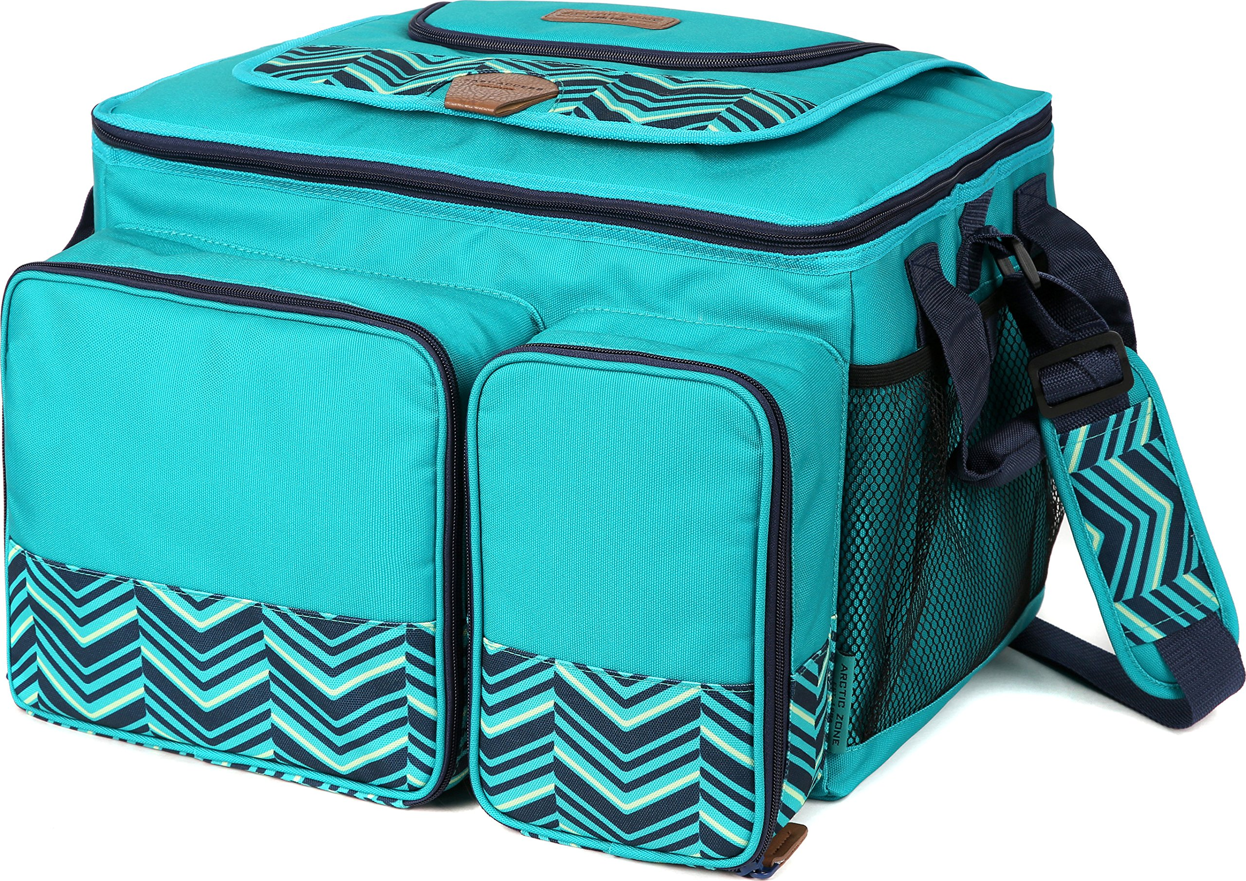 Arctic Zone 2014ILA18008 Hot/Cold Insulated Collapsible Picnic Cooler, Teal by Arctic Zone