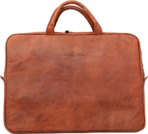 WerKens 15.6-Inch Leather Laptop Sleeve Handcrafted with 100% Original Leather an Elegant case for MacBook Pro 15-inch, 15.6-inch Surface Book,Ultrabook,Chromebook and Laptops