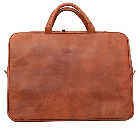 WerKens 15.6-Inch Leather Laptop Sleeve Handcrafted with 100% Original  Leather an Elegant case f56daf16a