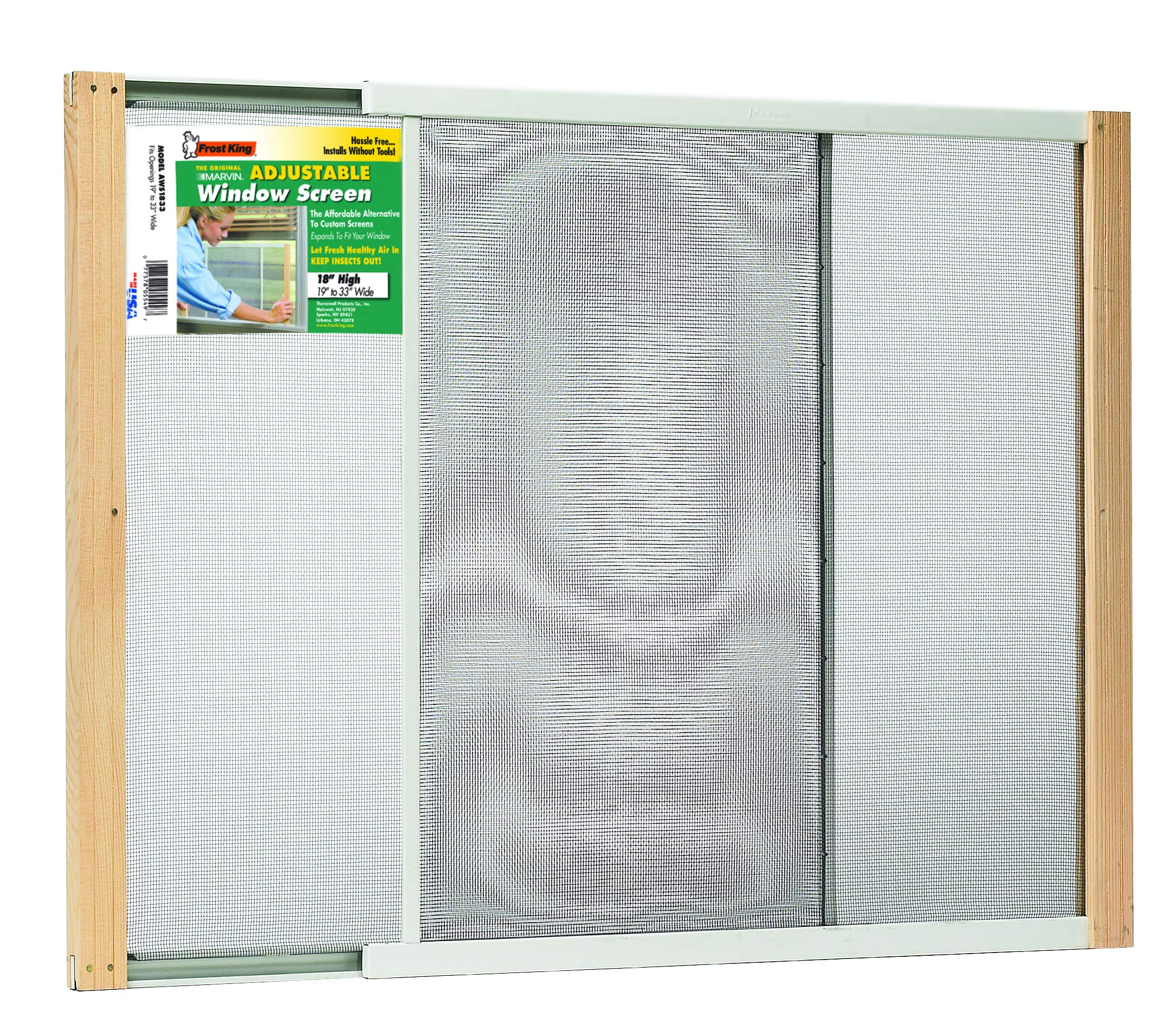 Adjustable Window Screen, 18'' x 19'' to 33''