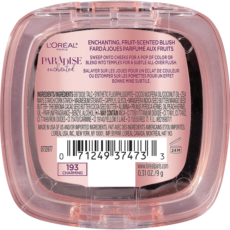 1408204b20c Amazon.com: L'Oréal Paris Makeup Paradise Enchanted Scented Blush, Bashful,  0.31 Ounce: Beauty