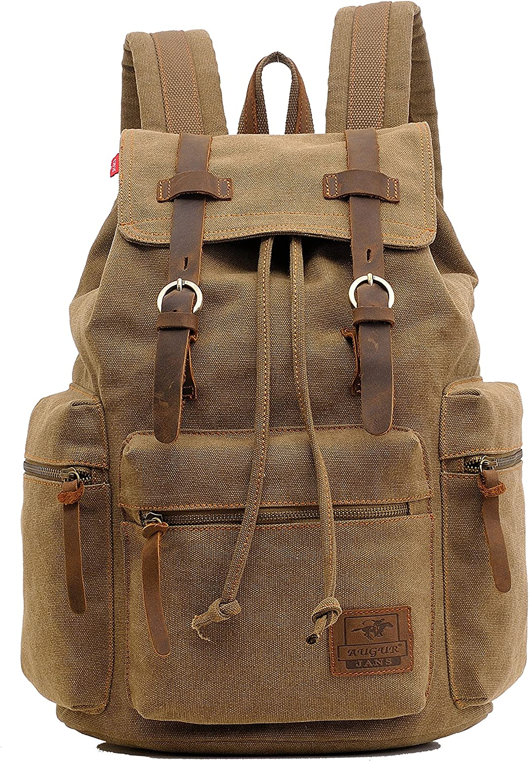 Genda 2Archer Multifunctional Canvas Backpack for Men and Women Light Brown