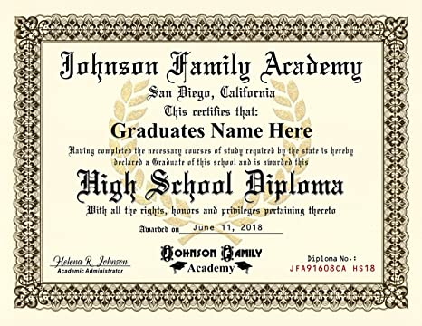 Amazoncom Homeschool Diploma Highschool Diploma Free
